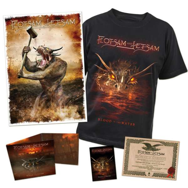 FLOTSAM AND JETSAM - Blood In The Water - Ltd Boxset (incl. T-Shirt sizes L-XXL)