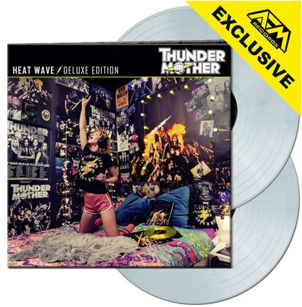 THUNDERMOTHER - Heat Wave (Deluxe Edition) - Ltd. Gatefold WHITE/BLUE MARBLED 2-LP - Shop Exclusive!