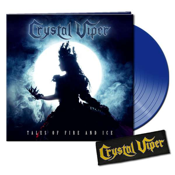 CRYSTAL VIPER - Tales Of Fire And Ice - Ltd. Bundle: BLUE LP + Patch - Shop Exclusive !