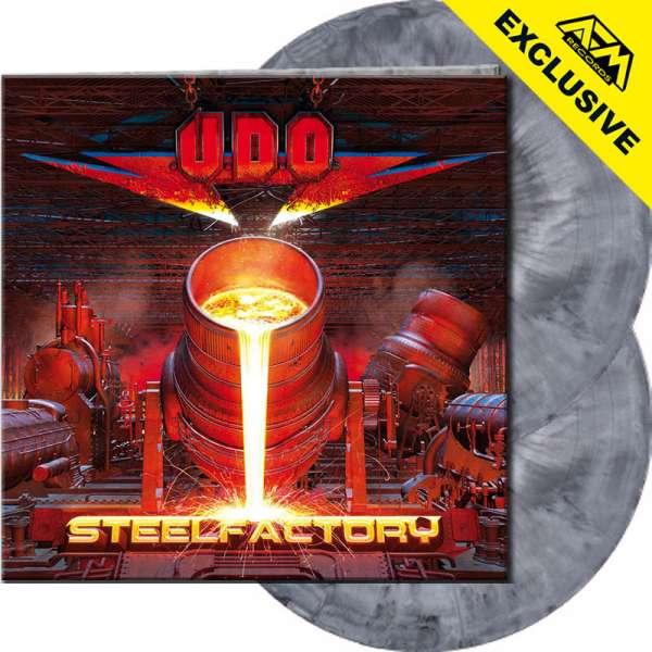 U.D.O. - Steelfactory - Ltd. Gatefold SILVER/BLACK MARBLED 2-Vinyl - AFM Shop Exclusive !