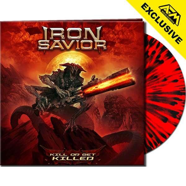 IRON SAVIOR - Kill Or Get Killed - Ltd. Gatefold RED/BLACK SPLATTER Vinyl - Shop Exclusive !