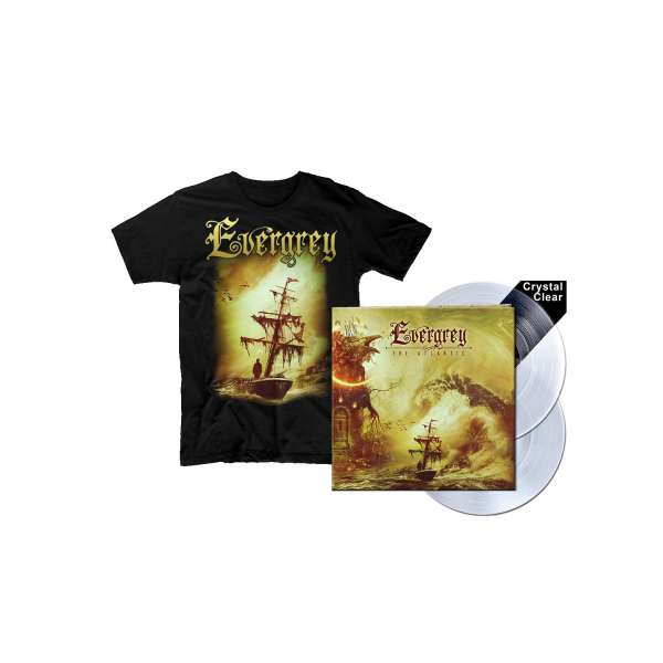 EVERGREY - The Atlantic - Ltd. Bundle: Gatefold CRYSTAL CLEAR 2-Vinyl + T-Shirt M-XXL