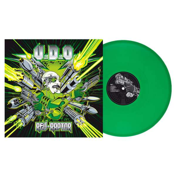 U.D.O. - Rev-Raptor - Ltd. Gtf. Clear-Green Vinyl Re-Release