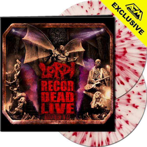 LORDI - Recordead Live - Sextourcism In Z7 - Ltd.Gtf. WHITE/RED SPLATTER 2-LP - Shop Exclusive !