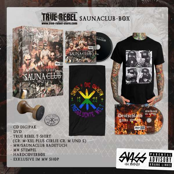 SWISS & DIE ANDERN - Saunaclub - True Rebel Saunaclub Box incl.Unisex-T-SHIRT Sizes M-XXL - Exclusiv