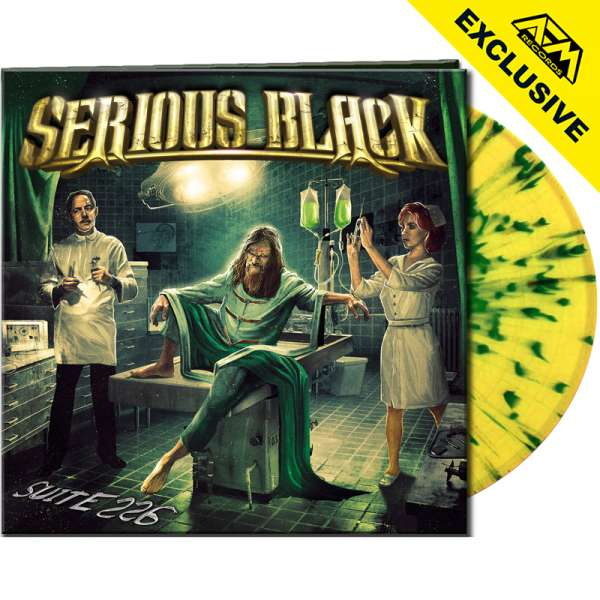 SERIOUS BLACK - Suite 226 - Ltd. Gatefold YELLOW/GREEN SPLATTER Vinyl - Shop Exclusive !