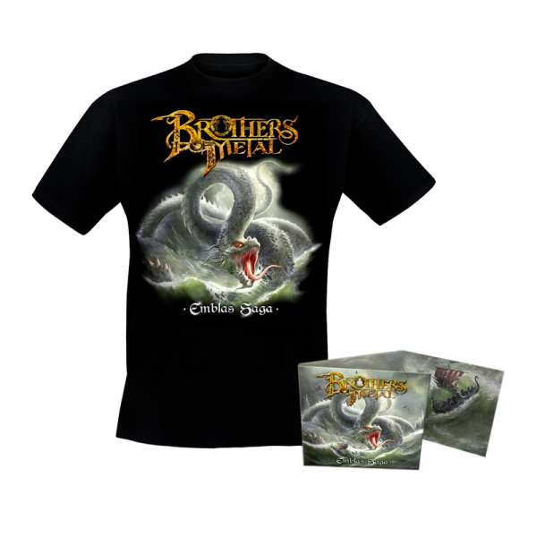 BROTHERS OF METAL - Emblas Saga - Bundle: Digipak-CD + TS-M-XXL