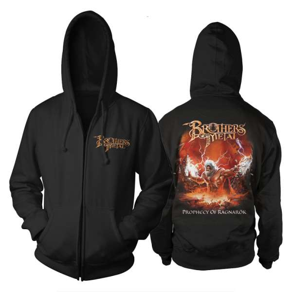 BROTHERS OF METAL - Prophecy Of Ragnarök - Zipped Hooded Sweater (Size M-XXL)