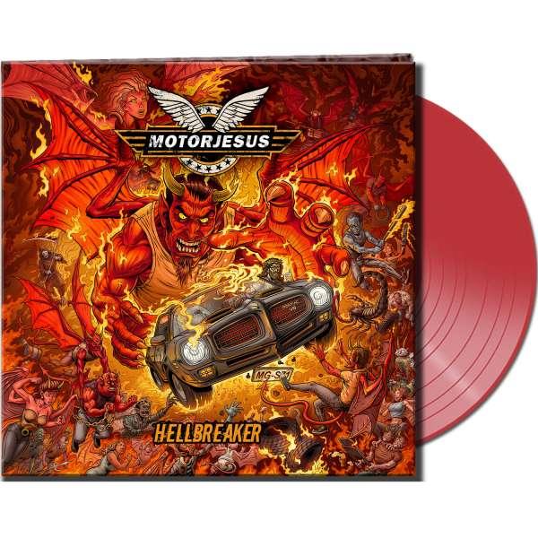 MOTORJESUS - Hellbreaker - Ltd. Gatefold CLEAR RED LP