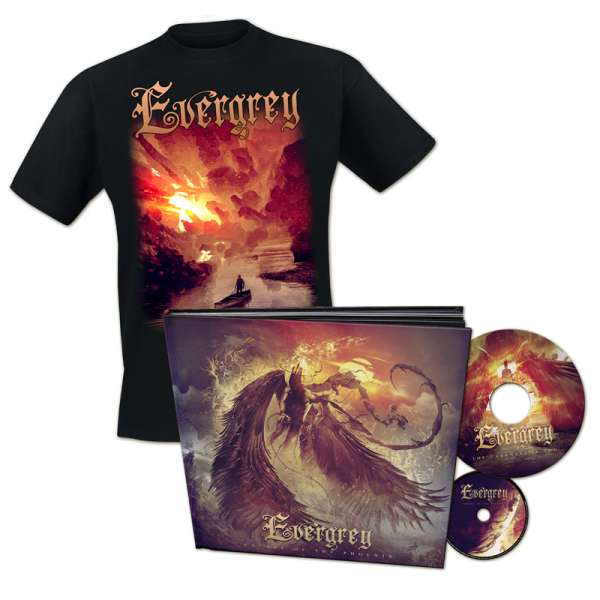 "EVERGREY - Escape Of The Phoenix - Ltd. Bundle: Artbook (incl.CD+7""-Vinyl) + T-Shirt M-XXL - Exclusi"