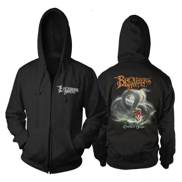 BROTHERS OF METAL - Emblas Saga - Zipped Hooded Sweater (Size M-XXL)