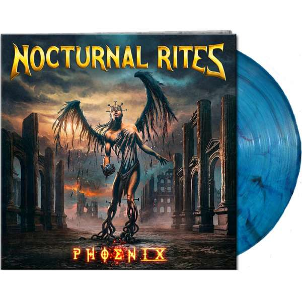 Nocturnal Rites - Phoenix - Ltd. Gtf. Clear Blue/Black Marbled Vinyl