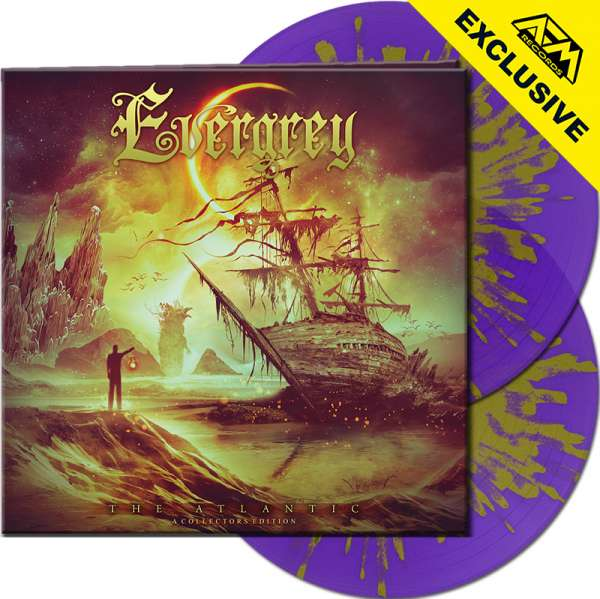 EVERGREY - The Atlantic: A Collectors Edition - Ltd.Gtf. CLEAR PURPLE/YELLOW SPLATTER 2-LP - Shop Ex