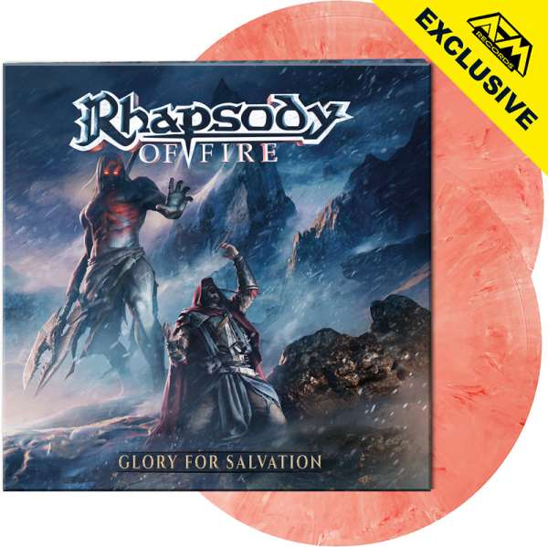 RHAPSODY OF FIRE – Glory For Salvation - Ltd. Gatefold CLEAR RED/WHITE MARBLED 2-LP - Shop Exclusive