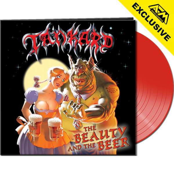TANKARD - The Beauty And The Beer - Ltd. CLEAR RED Vinyl - Shop Exclusive !
