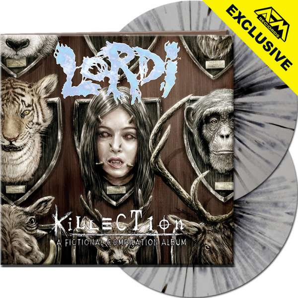 LORDI - Killection - Ltd. Gatefold SILVER/BLACK SPLATTER 2-LP - Shop Exclusive !