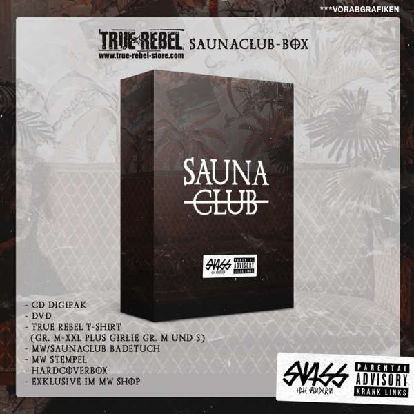 SWISS & DIE ANDERN - Saunaclub - True Rebel Saunaclub Box inkl. GIRLIE-Shirt Sizes S+M - Exclusive!