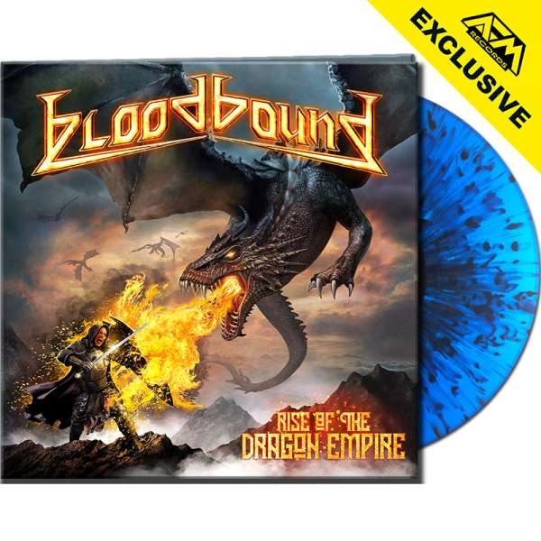 BLOODBOUND - Rise Of The Dragon Empire	- Ltd. Gatefold CLEAR BLUE/BLACK SPLATTER LP - Shop Exclusive