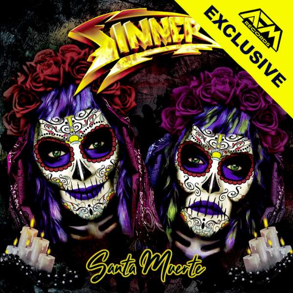 SINNER - Santa Muerte - Ltd. Gatefold CLEAR YELLOW/RED SPLATTER 2-LP - Shop Exklusive !