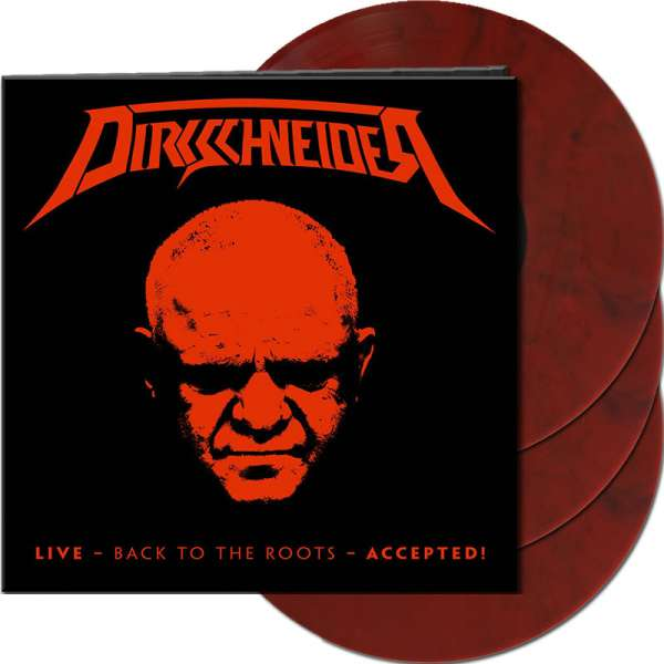 DIRKSCHNEIDER - Live - Back To The Roots - Accepted! - Ltd. Gtf. Red/Black Marbled 3-Vinyl