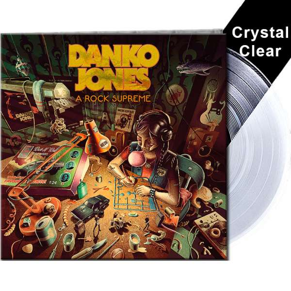DANKO JONES - A Rock Supreme - Ltd. Gatefold CRYSTAL CLEAR LP