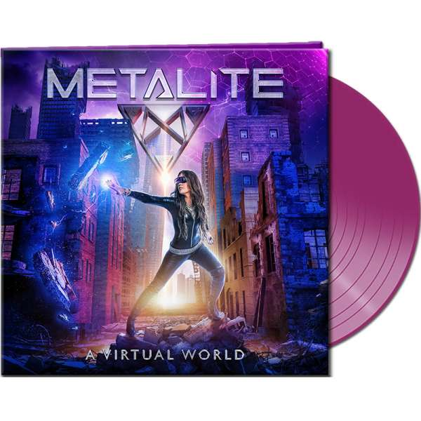 METALITE - A Virtual World - Ltd. Gatefold CLEAR PURPLE Vinyl