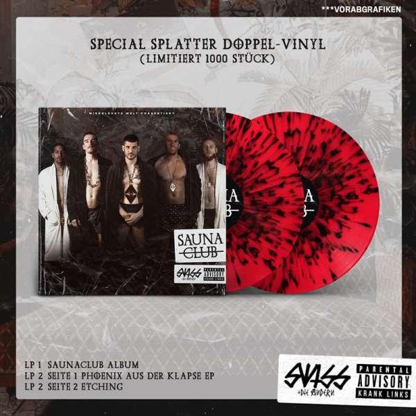 SWISS & DIE ANDERN - Saunaclub - Ltd. Splatter Doppel Vinyl