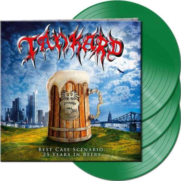 TANKARD - Best Case Scenario - 25 Years In Beers - Ltd. Gatefold GREEN 3-LP
