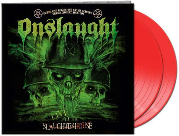 Onslaught - Live At The Slaughterhouse - Ltd. Gtf. Red 2-Vinyl