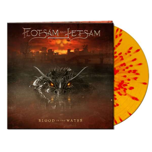 FLOTSAM AND JETSAM - Blood In The Water - Ltd. Gatefold CLEAR YELLOW/RED SPLATTER LP