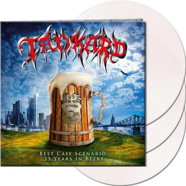 TANKARD - Best Case Scenario - 25 Years In Beers - Ltd. Gatefold CLEAR 3-LP