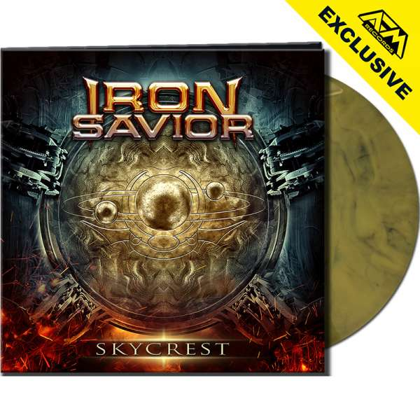 IRON SAVIOR - Skycrest - Ltd. Gatefold YELLOW/BLACK MARBLED Vinyl - Shop Exclusive!