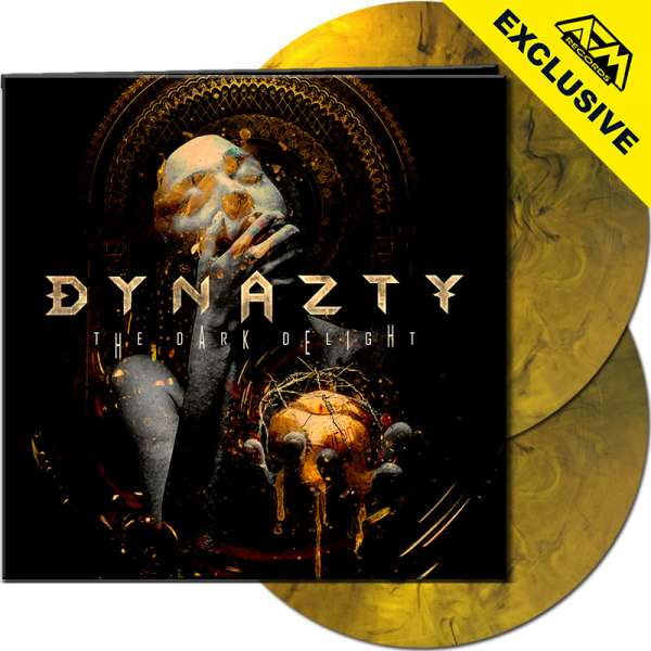 DYNAZTY - The Dark Delight - Ltd. Gatefold YELLOW/BLACK MARBLED 2-LP - Shop Exclusive !