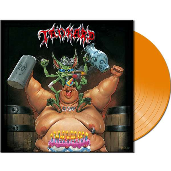 TANKARD - B-Day - Ltd. CLEAR ORANGE Vinyl