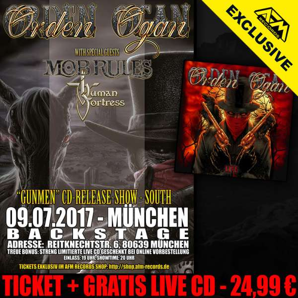 ORDEN OGAN - Gunmen Release Show Munich - Ticket