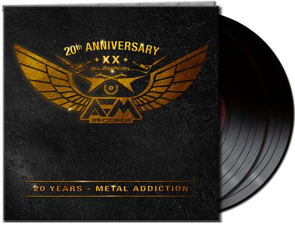 RARITY! Various Artists - 20 Years – Metal Addiction - Ltd. Gtf. Black 2-Vinyl