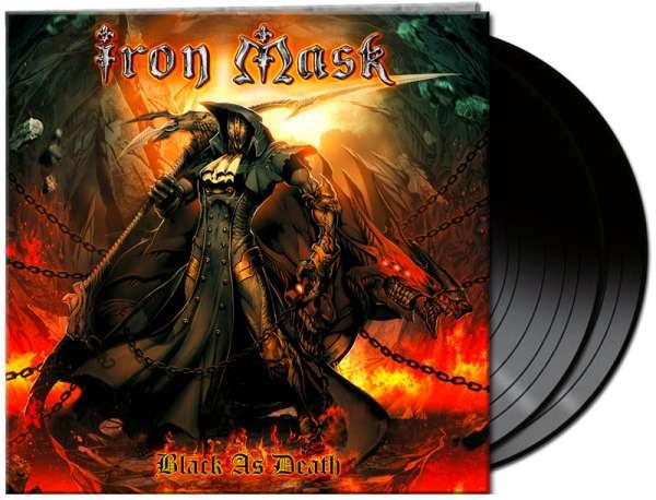 IRON MASK - Black As Death (2-LP)