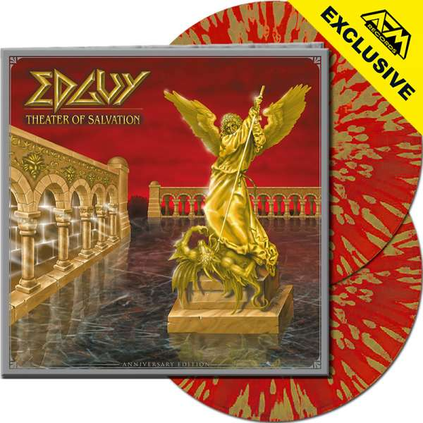 EDGUY - Theater Of Salvation (Anniv.Ed.) - Ltd.Gtf. CLEAR RED/GOLD SPLATTER 2-LP - Shop Exclusive !