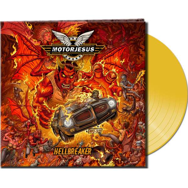 MOTORJESUS - Hellbreaker - Ltd. Gatefold CLEAR YELLOW LP