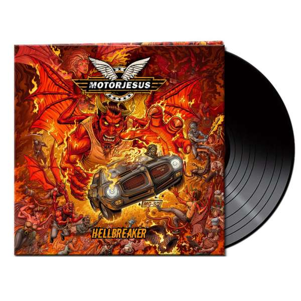 MOTORJESUS - Hellbreaker - Ltd. Gatefold BLACK LP