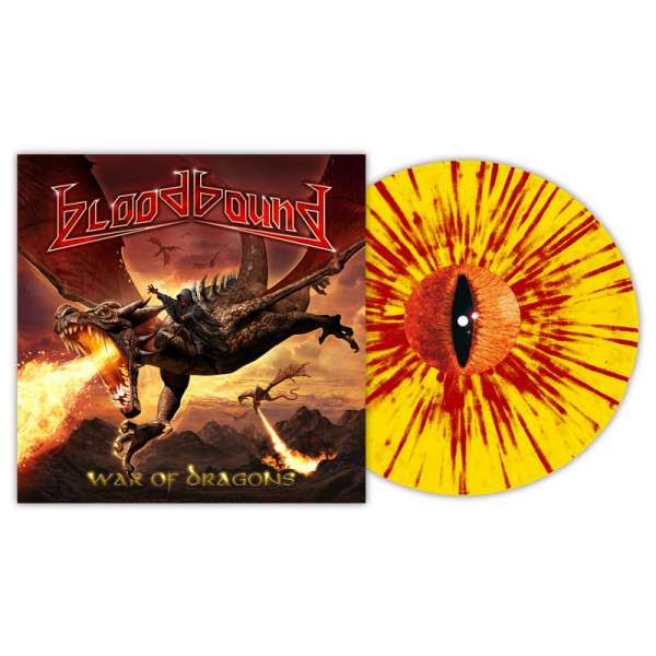 BLOODBOUND - War Of Dragons - Ltd. Gtf. Clear Yellow-Red Splatter Vinyl