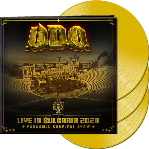 U.D.O. - Live in Bulgaria 2020 – Pandemic Survival Show - Ltd. Gatefold CLEAR YELLOW 3-LP