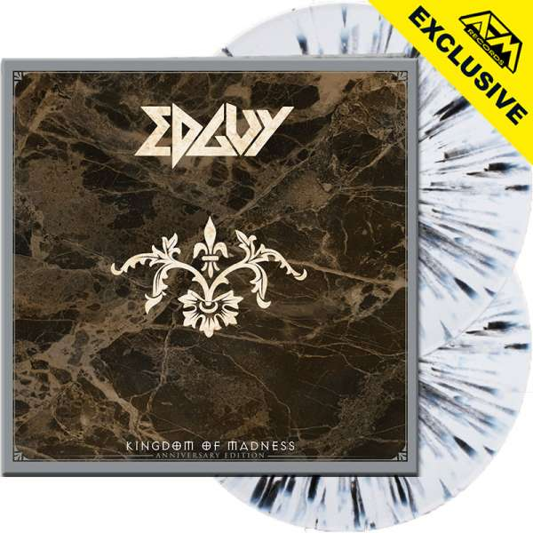 EDGUY - Kingdom Of Madness (Anniversary Edition) - Ltd.Gtf.WHITE/BLACK SPLATTER 2-LP - Shop Exclusiv