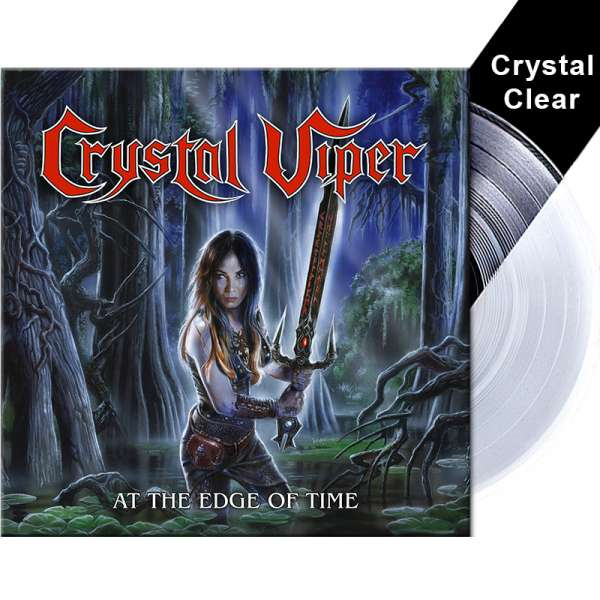 "CRYSTAL VIPER - At The Edge Of Time - Ltd. Crystal Clear 10"" Vinyl (Mini-LP)"