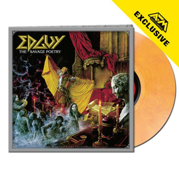 EDGUY – The Savage Poetry (Anniversary Edition) - Ltd. Gtf. YELLOW/RED MARBLED LP - Exclusive!