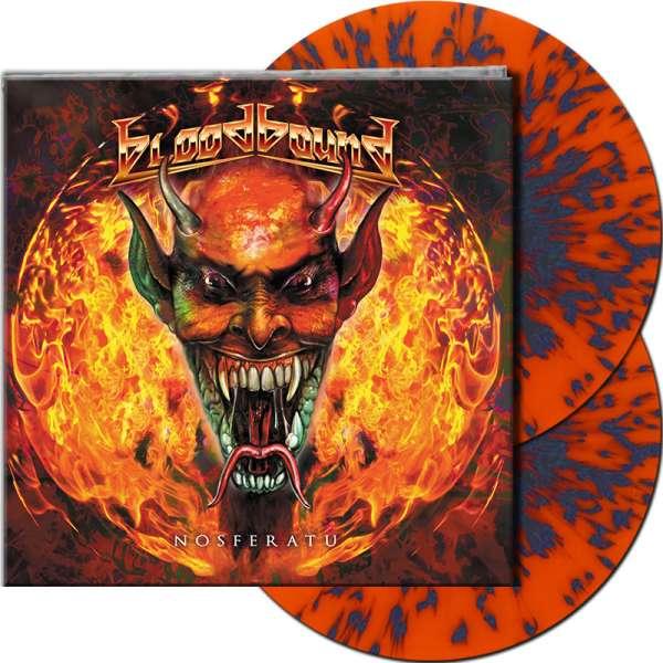BLOODBOUND - Nosferatu - Ltd. Gtf. CLEAR ORANGE/BLUE SPLATTER Vinyl