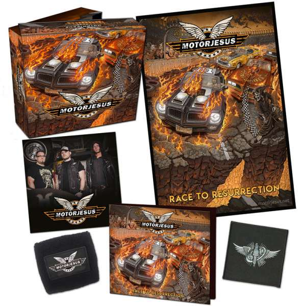 MOTORJESUS - Race To Resurrection - Ltd. Boxset (Digipak + Patch + Sweatband + more)