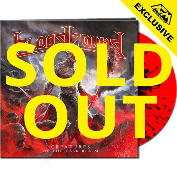BLOODBOUND - Creatures Of The Dark Realm - Ltd. Gatefold RED/BLACK SPLATTER LP - Shop Exclusive!