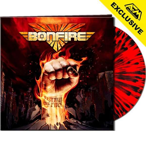 BONFIRE - Fistful Of Fire - Ltd. Gatefold CLEAR RED/BLACK SPLATTER Vinyl - Shop Exclusive !
