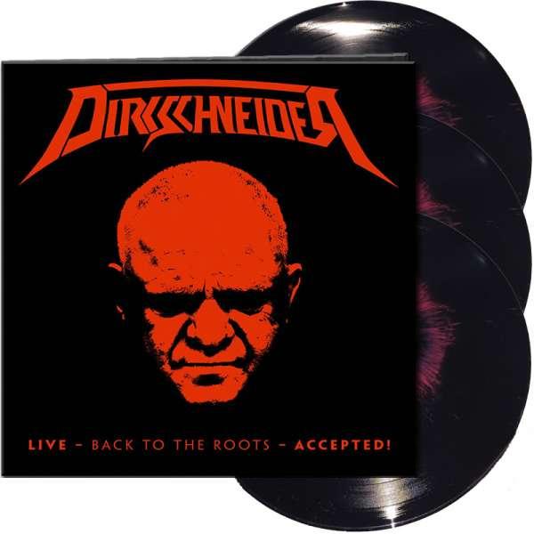 DIRKSCHNEIDER - Live - Back To The Roots - Accepted! - Ltd. Gtf. Black/Red Splatter 3-Vinyl